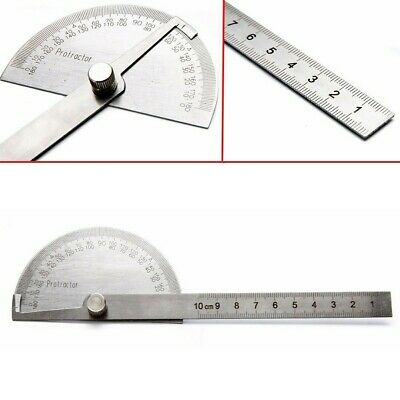 $9.42 • Buy SAE Protractor 0-180° Rotary Angle Finder Stainless Steel Machinist Ruler