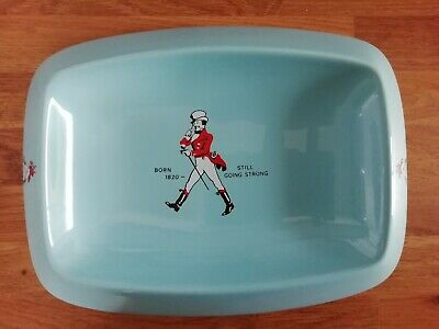 £16.50 • Buy VINTAGE Collectable Blue JOHNNIE WALKER  Whiskey Ashtray 1960's Wade Regicor