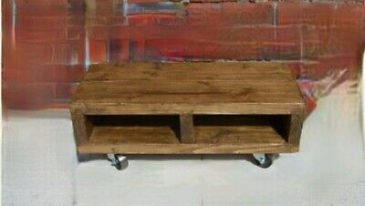 £89.89 • Buy Coffee Table Wheels/tv Stand Any Sizes Handmade