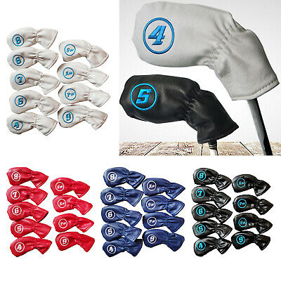 AU23.91 • Buy 9x Waterproof PU Golf Club Iron Cover Protection Headcover Universal Fit