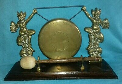 £35 • Buy Vintage Quirky 1950s Lucky Pixies Brass Table Dinner Gong Devon Cornwall England