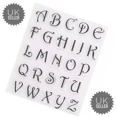 £3.95 • Buy Alphabet Letters Silicone Clear Reusable Stamps Art & Crafts Scrapbook