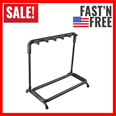 $ CDN62.68 • Buy Folding Multi Guitar Display Rack 5 Guitar Stand Holder Stand Accessories NEW
