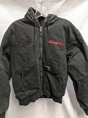 $ CDN75.22 • Buy Snap On Tools Insulated Work Jacket Black Winter Coat Large Quilted