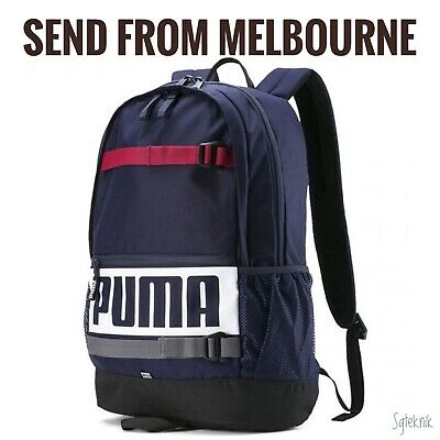 AU39.95 • Buy New With Tag - Puma Deck Backpack Sports School Laptop Bag Navy Blue 074706 24