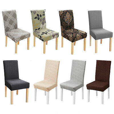 £3.19 • Buy Dining Chair Covers Stretch Jacquard Seat Slipcover Removable Chair Protector