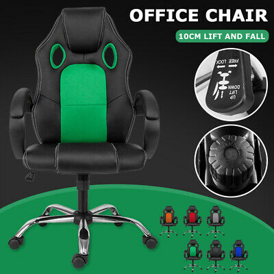 AU66 • Buy Gaming Chair Office Chairs PU Leather Racer Executive Computer Adjustable Seat