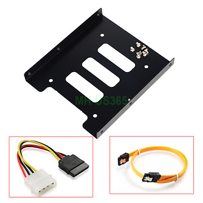 AU6.90 • Buy 2.5  To 3.5  Bay SSD Metal Hard Drive HDD Mounting Bracket Adapter Tray & Cable