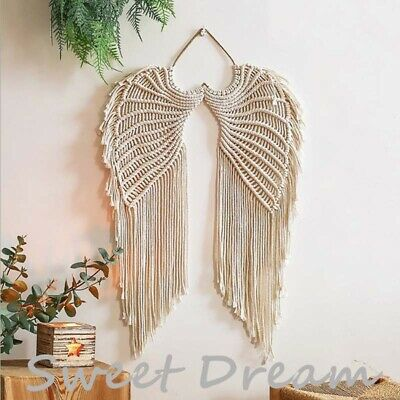 £11.99 • Buy New Angel Wings Wall Hanging Tapestry Wall Decoration Woven Home Decoration UK