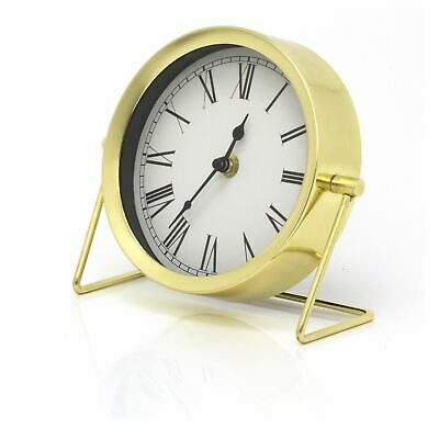 £11.99 • Buy Modern Gold Effect Mantel Clock | Battery Operated Desk Clock With Stand