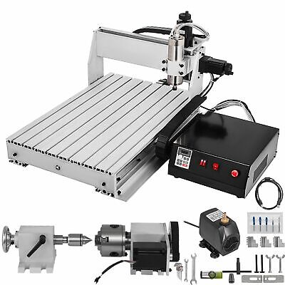 $2194.99 • Buy 4 Axis 1000W USB Mach3 CNC 6040 Router Engraving Milling Machine Woodworking DIY