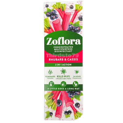£6.50 • Buy ZofloraRhubarb & Cassis -Concentrated Disinfectant 3 In 1 250ml - X1