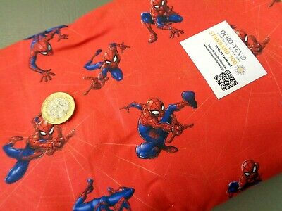 £5.99 • Buy Spiderman Fabric Marvel Licensed Comic Book  Red   Craft 100% Cotton  2 Lengths