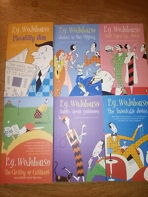 £24.99 • Buy P G Wodehouse Book Bundle Collection Jeeves Etc  Lot X 6 Paperback Penguin.