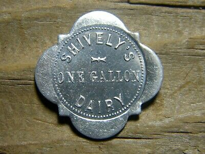 $5.99 • Buy NORTH MANCHESTER, INDIANA Milk Token SHIVELY'S DAIRY One Gallon WABASH CO. IN