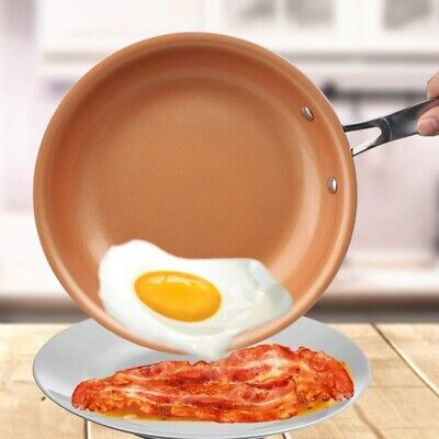 $28.75 • Buy 10 Inch Non-Stick Skillet Copper Frying Pan With Ceramic Coating Induction Cook