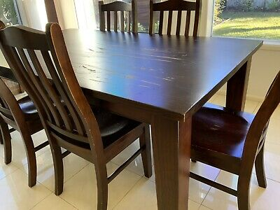 AU150 • Buy Dining Tables And 6 Chairs - Used.  Needs A Re Polish.