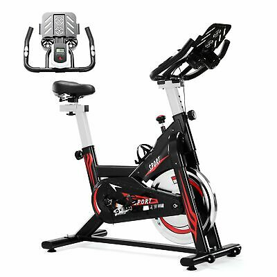 £75.99 • Buy Upright Exercise Bikes With Heart Rate Monitor, Belt Drive, Training Indoor Bike