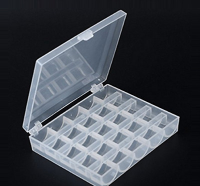 £2.98 • Buy Universal Sewing Bobbin Spool Case Clear 25-Grid Storage Box Container Organiser