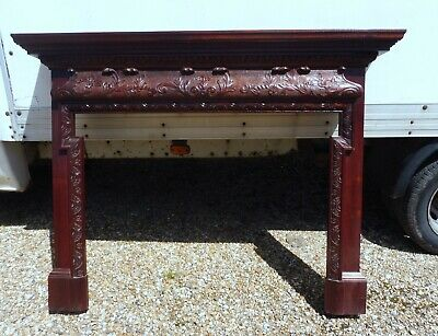 £225 • Buy Solid Mahogany Carved Fire Surround Quality Item