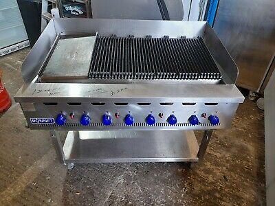 £1995 • Buy Bonnet 8 Burner Chargrill Nat Gas Heavy Duty Flame Grill Griddle Commercial 1.2m