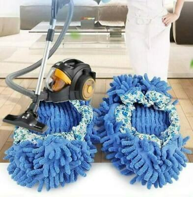 £4.98 • Buy 2 Pair Chenille Micro Fibre Slippers Floor Cleaning Shoe Cover Mop Dust Sweeper