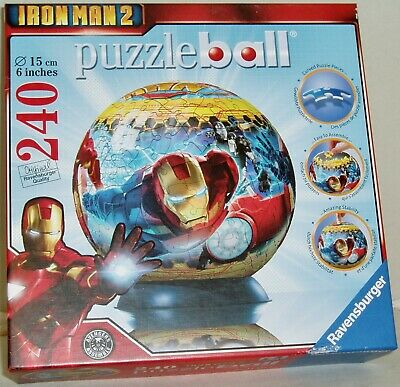 $12.50 • Buy IRON MAN 2 PUZZLE BALL 240-Piece 2010 Ravensburger *Pieces Factory Sealed*