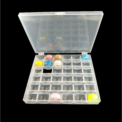£3.48 • Buy Universal Sewing Bobbin Spool Case Clear 36-Grid Storage Box Container Organiser