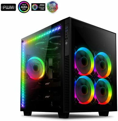 £200.30 • Buy Anidees AI Crystal Cube AR V3 Dual Chamber Tempered Glass EATX/ATX PC Gaming