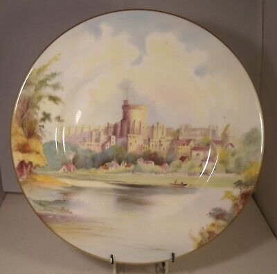 £74.99 • Buy Minton Hand Painted 10.25  Cabinet Plate Windsor Castle J Shaw
