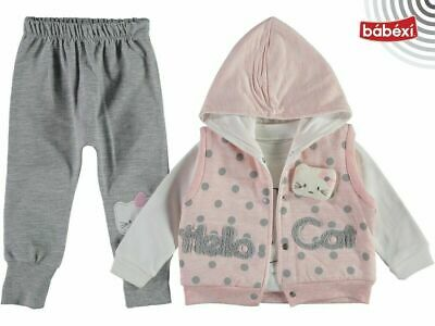 £6.99 • Buy 3PCS Newborn Baby Girls Clothes Floral Hooded Tops Pants Outfits Set Tracksuit