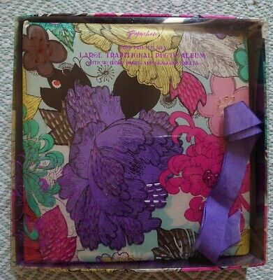 £16 • Buy PAPERCHASE Hand Printed Silk Large Traditional Photo Album 40 Pages NEW In Box