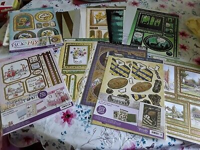 £3.20 • Buy Craft Room Clearout Bundle Of Hunkydory Toppers , Some Backing Cards And Some...
