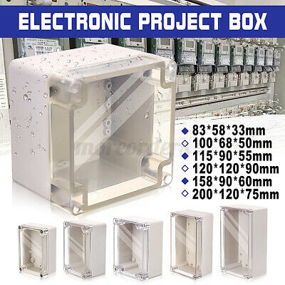£8.13 • Buy Waterproof ABS Clear Cover Electronic Project Box Enclosure Case Junction