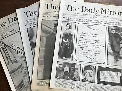 £0.99 • Buy Job Lot Newspapers Daily Mirror Sinking Of Titanic April 1912