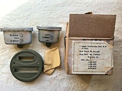 $20.99 • Buy Authentic  WWII MILITARY VEHICLE TAIL LIGHT 6 VOLT CONVERSION UNIT  (NOS)
