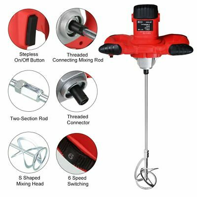 £50 • Buy 2100W Electric Plaster Paddle Mixer Drill Mortar Cement Paint Stirrer Whisk New!