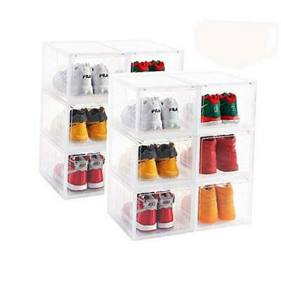 $148.28 • Buy  Clear Storage Shoes Box Womens Mens Shoe Storage Display Box Clear-6-PACK