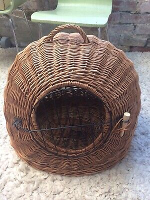 £48 • Buy Wicker Basket Extra Large Strong Puppy Dog Cat Pet Carrier Snug Den Dome