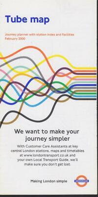 £4.99 • Buy London Underground Tube Map Feb 2000 (advert Removals And Storage)