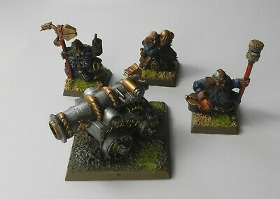 £5.50 • Buy DWARF CANNON + CREW Plastic Battle For Skull Pass Dwarfs Army Well Painted 49