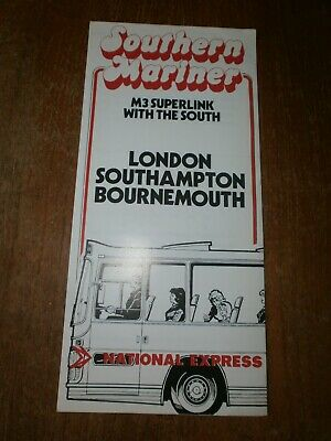 £1.50 • Buy National Express Timetable Leafet-London/Southampton/Bournemouth 1977