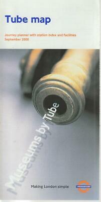 £4.99 • Buy London Underground Tube Map Sep 2000 (advert Removals And Storage)