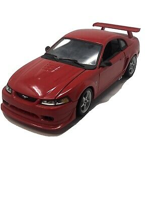 $59.99 • Buy Diecast 2000 Ford Mustang Cobra R- Svt  1:18 Scale-red