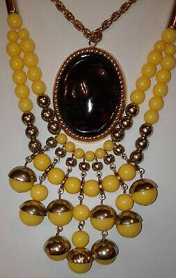 $ CDN29 • Buy 🌬🌕Vintage Jewelry Lot,Yellows! Purples,Necklaces, Berebi Earrings,Ring,&More!