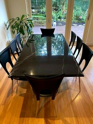 AU200 • Buy Black Dining Table And Chairs Set
