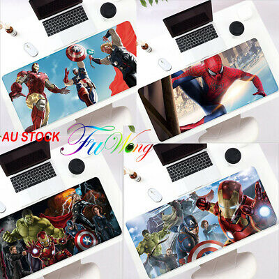 AU30 • Buy Marvel Heroes Large Gaming Mouse Pad Extended PC Desk Keyboard Mat Playmat