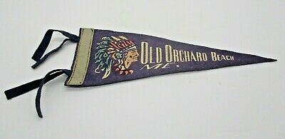 $14.39 • Buy Vintage Pennant Indian Chief Old Orchard Beach Maine 11