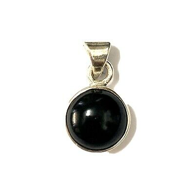 £21 • Buy Whitby Jet And 925 Sterling Silver Round Pendant