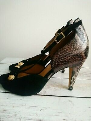 £25 • Buy Clarks Size 5 Softwear T Bar Snakeskin Court Shoes Christmas Party Wedding